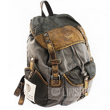 c9d7ffb5bad0 Classic combined travel rucksacks pack unisex · Vintage rugged ...
