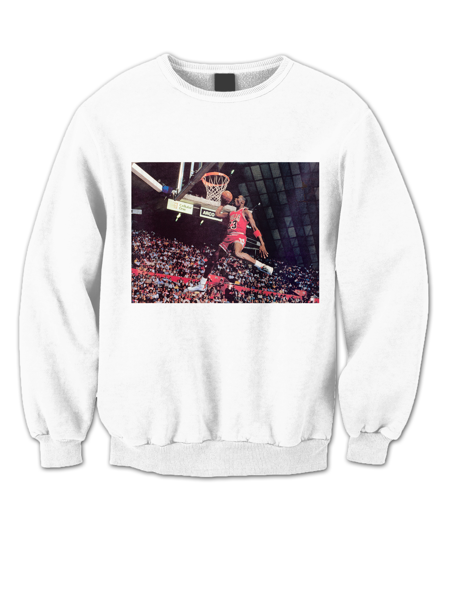 MICHAEL JORDAN SWEATSHIRT DUNK BASKETBALL SHIRTS NBA CELEBRITY T ...