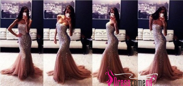 Sexy Sweetheart Sleeveless Heavy Beads Crystals Pink Tulle Long Evening Dress,Pink Prom Dress,Party Dress ,Cocktail Dress BON06
