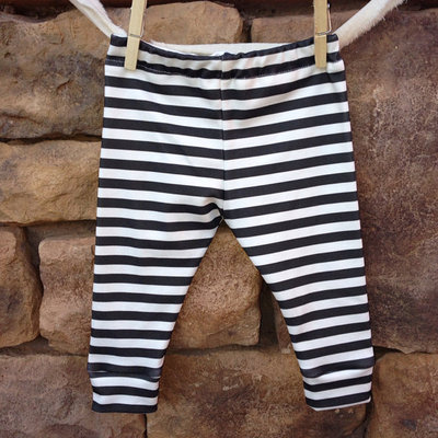 be4e469f8fbd1 Black + white Stripe Baby leggings · Little Nugget Republic ® · Online  Store Powered by Storenvy
