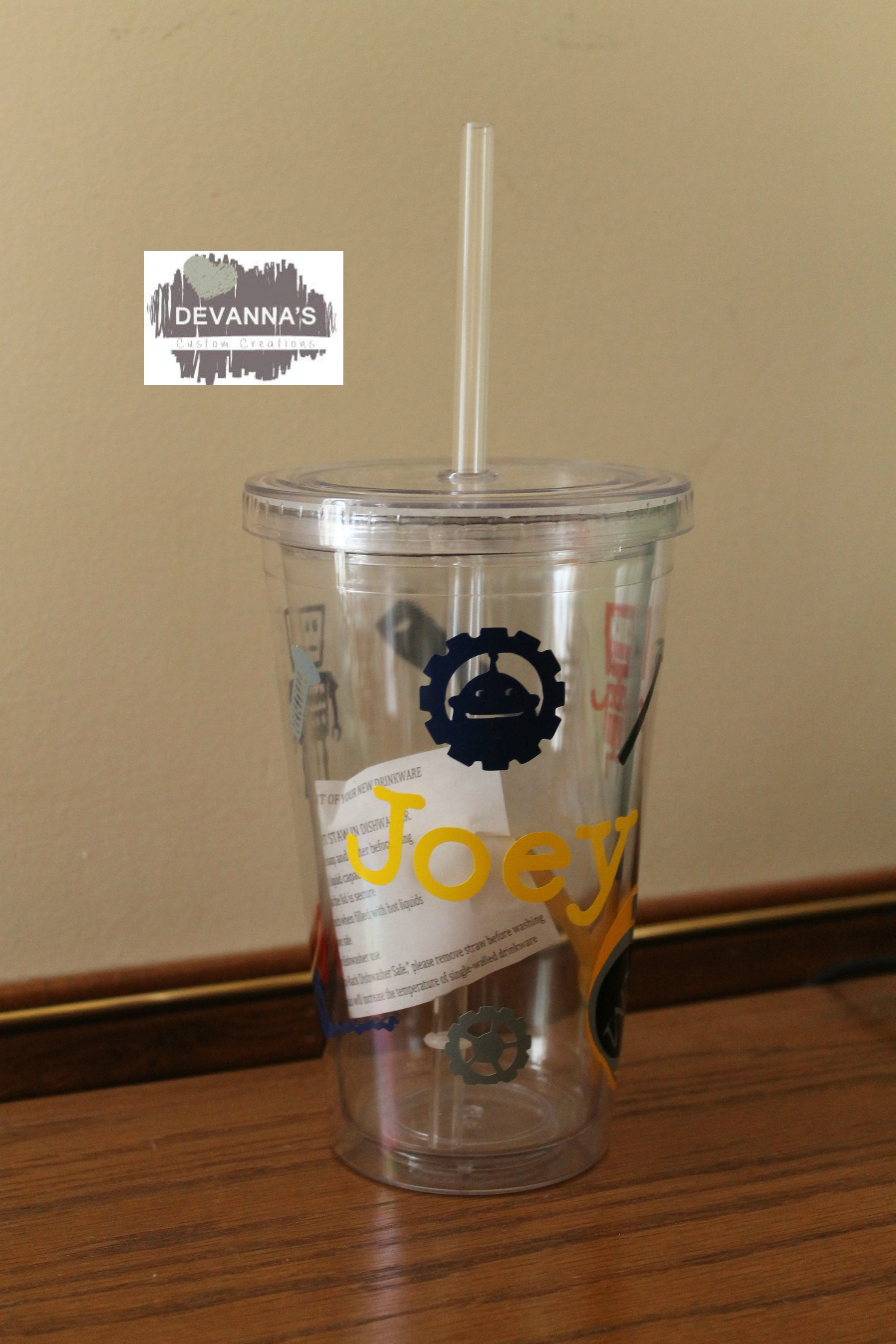 9af41413e6b 16oz Personalized Tumbler with Lid and Straw - Tools and Name ...