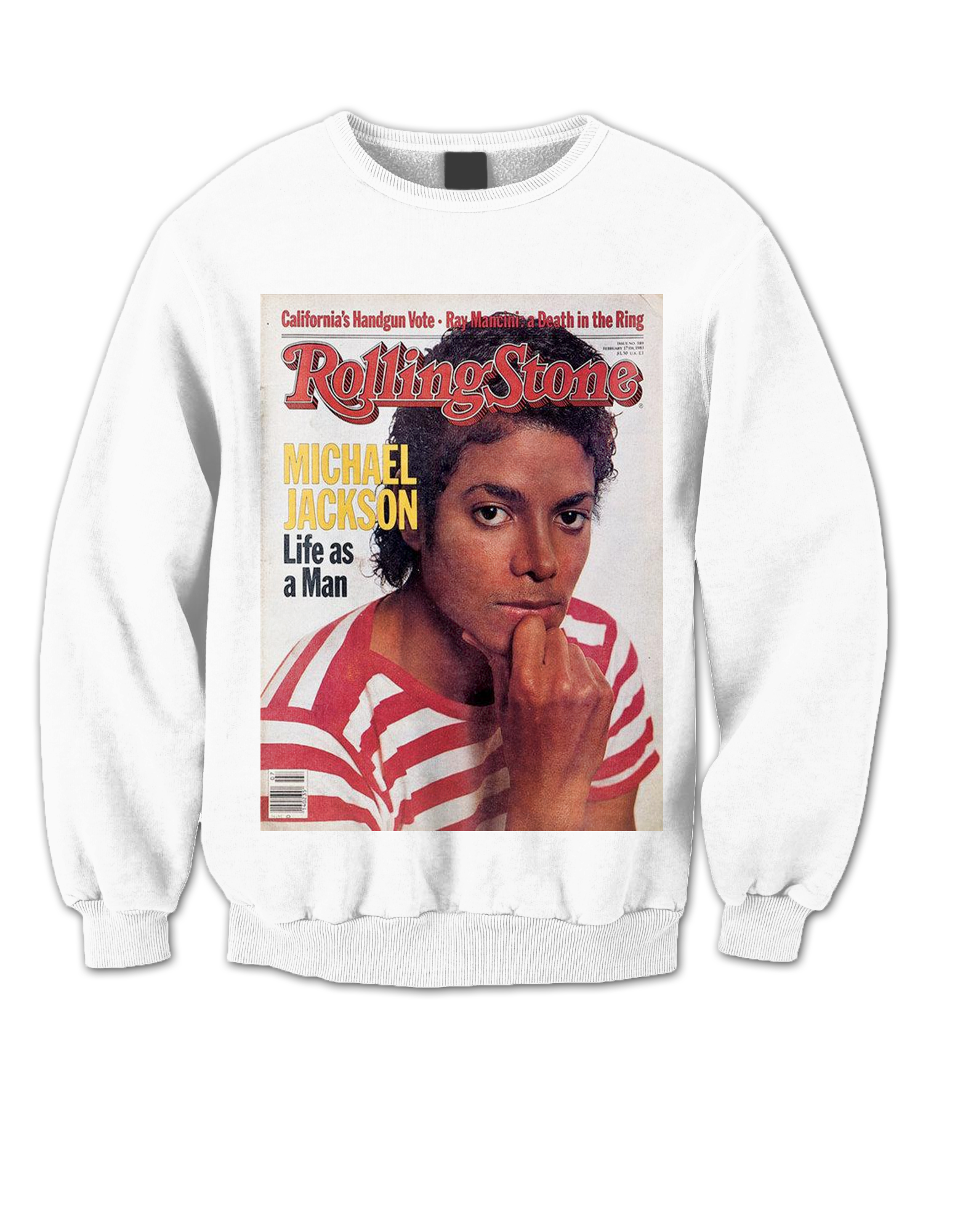 95462640 MICHAEL JACKSON ROLLING STONE COVER SWEATSHIRT COOL SWEATSHIRT COOL ...