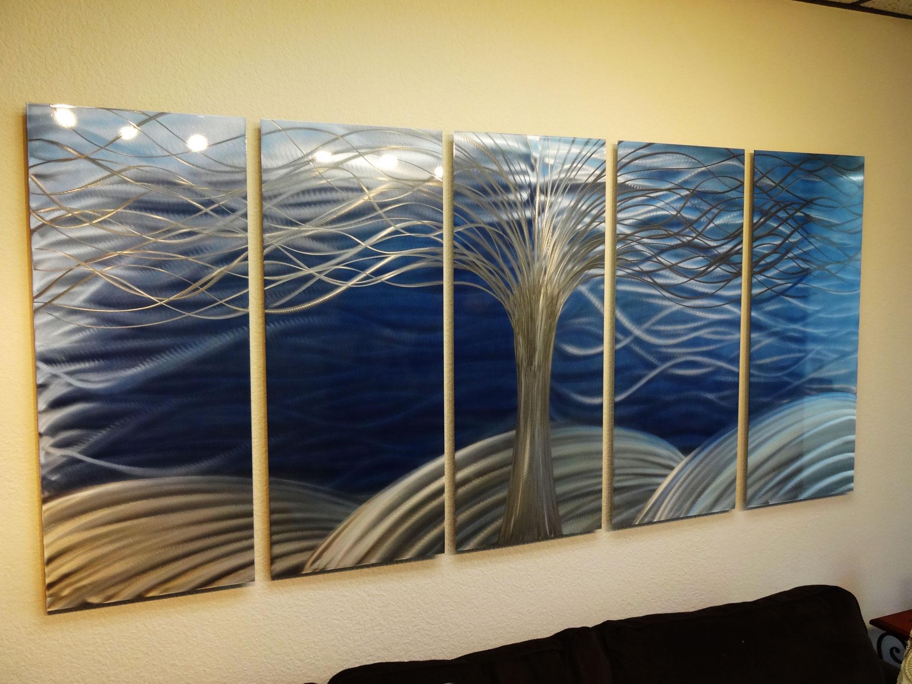 "Metal Tree Wall Art Gallery: Tree Of Life 36"" X 79""- Metal Wall Art Abstract"