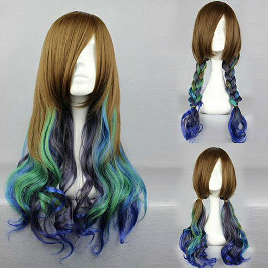 Mcoser 55cm Long Multi-color Beautiful Lolita Wig Anime Wig And To Have A Long Life. Synthetic Wigs