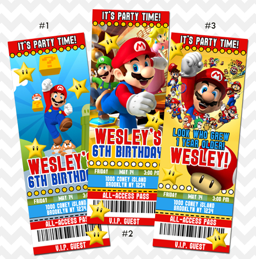 Mario Kart Invitation on Storenvy