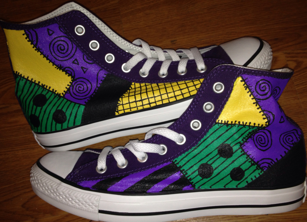 9aab8750379b Sally Nightmare Before Christmas Hand Painted Custom Converse on Storenvy