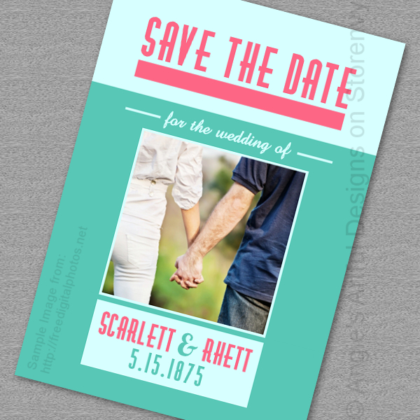 customized printable save the date card marvelously married