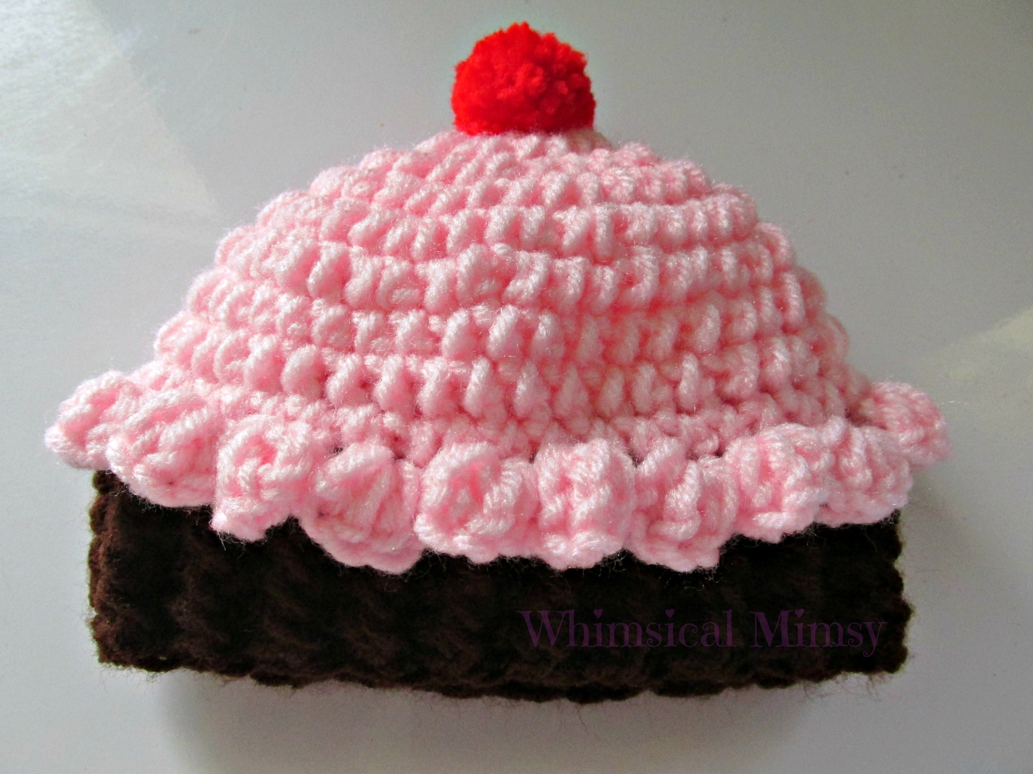 61c6647ae1a Crochet Baby Pink Cupcake Hat · Whimsical Mimsy · Online Store ...