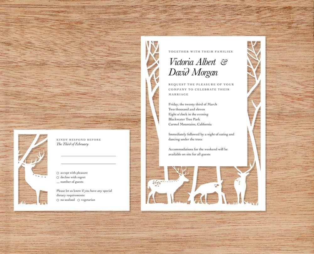 paper pretties} woodsy invitations