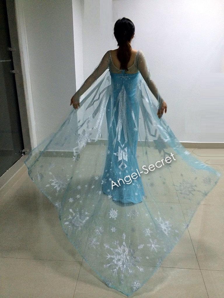 ... J767 [adult] Movies Frozen Snow Queen Elsa Cosplay Costume Deluxe Dress with cloak teenager ... & J767 [adult] Movies Frozen Snow Queen Elsa Cosplay Costume Deluxe ...