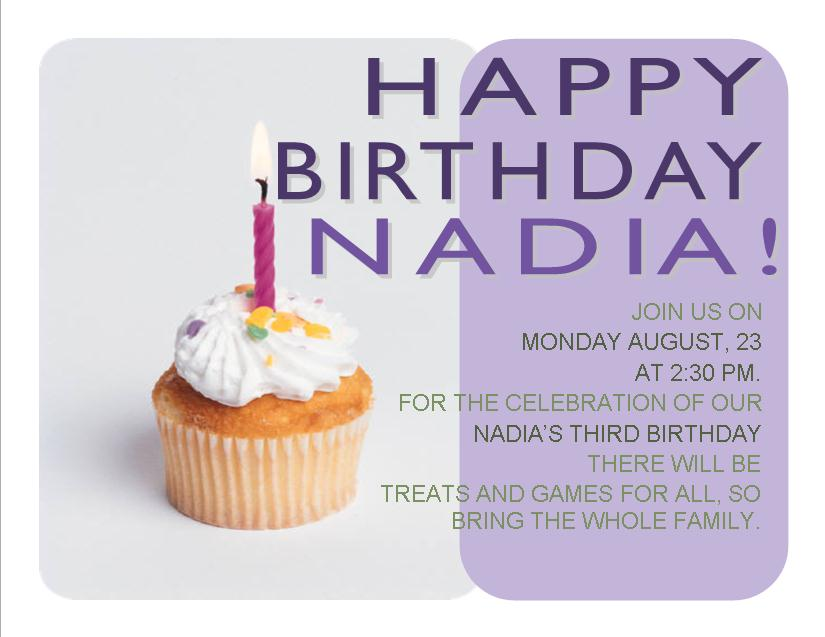 Cupcake Birthday Invitation 1 From Southern Desktop Publishing