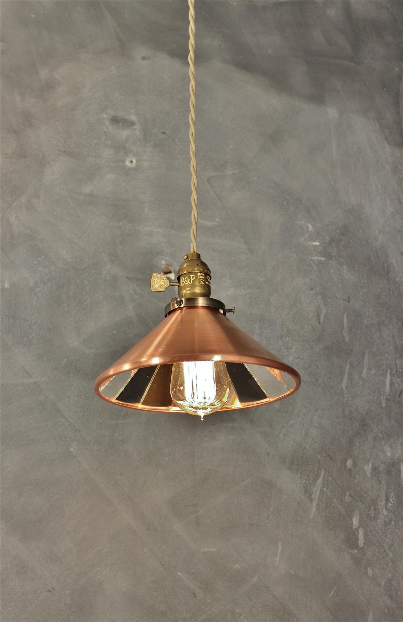 Industrial Pendant Lamp w/ Cone Mirror Reflector Shade ...