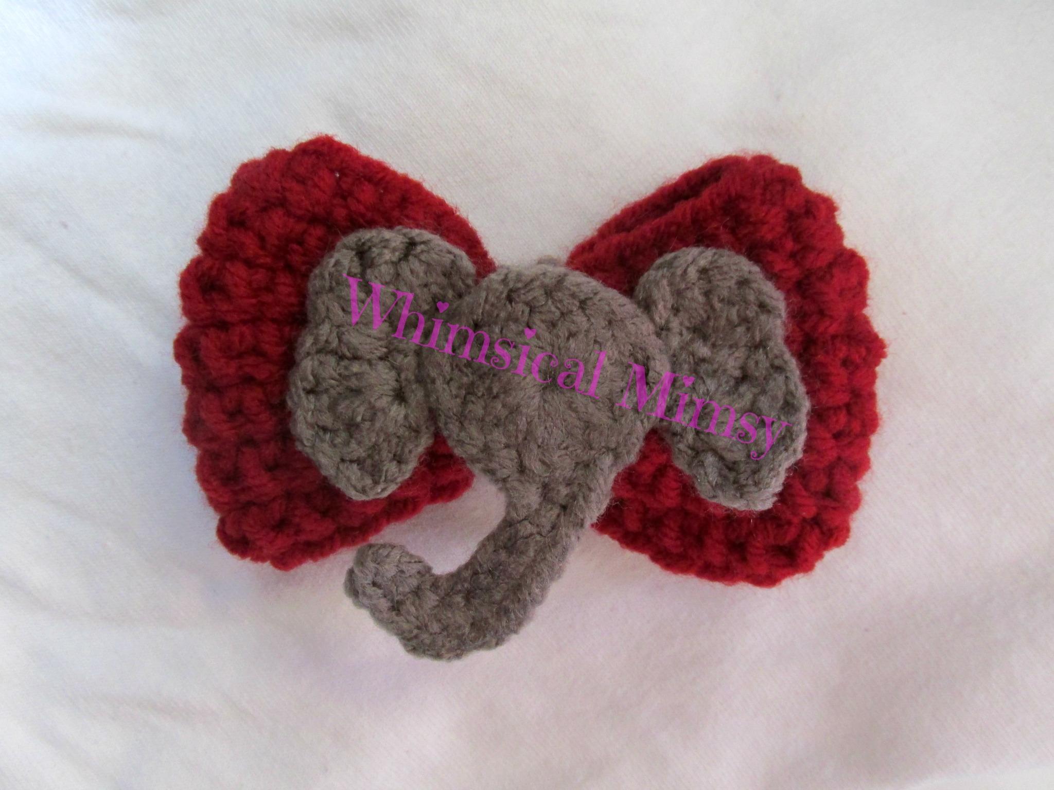 Alabama Crimson Tide fan Pattern crochet doll elephant   Etsy   1536x2048