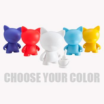 MunnyWorld Micro Raffy Multicolor Kidrobot Violet