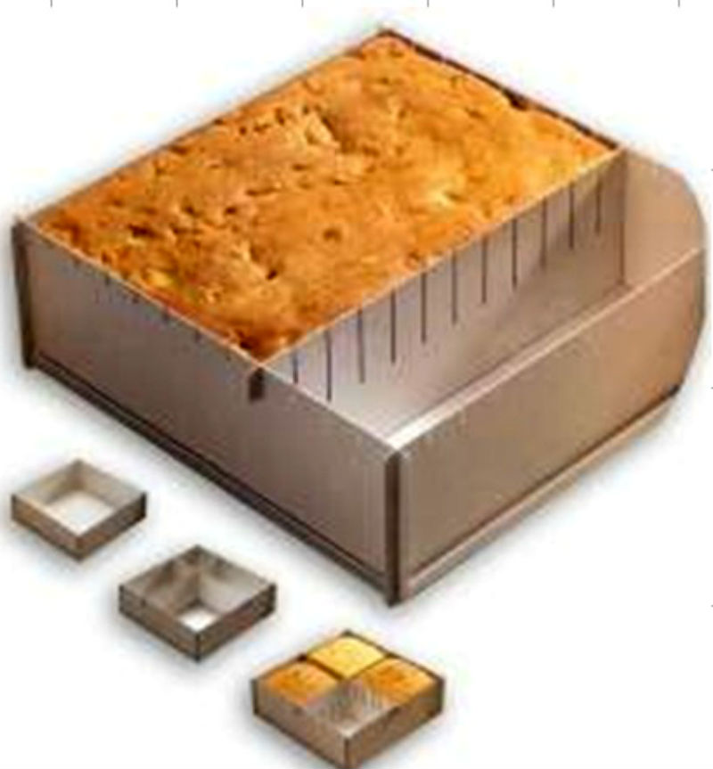 Image of 10 Inch SQUARE SHAPE Multiple Size Easy Use Can Make Different Size CAKE MOLD