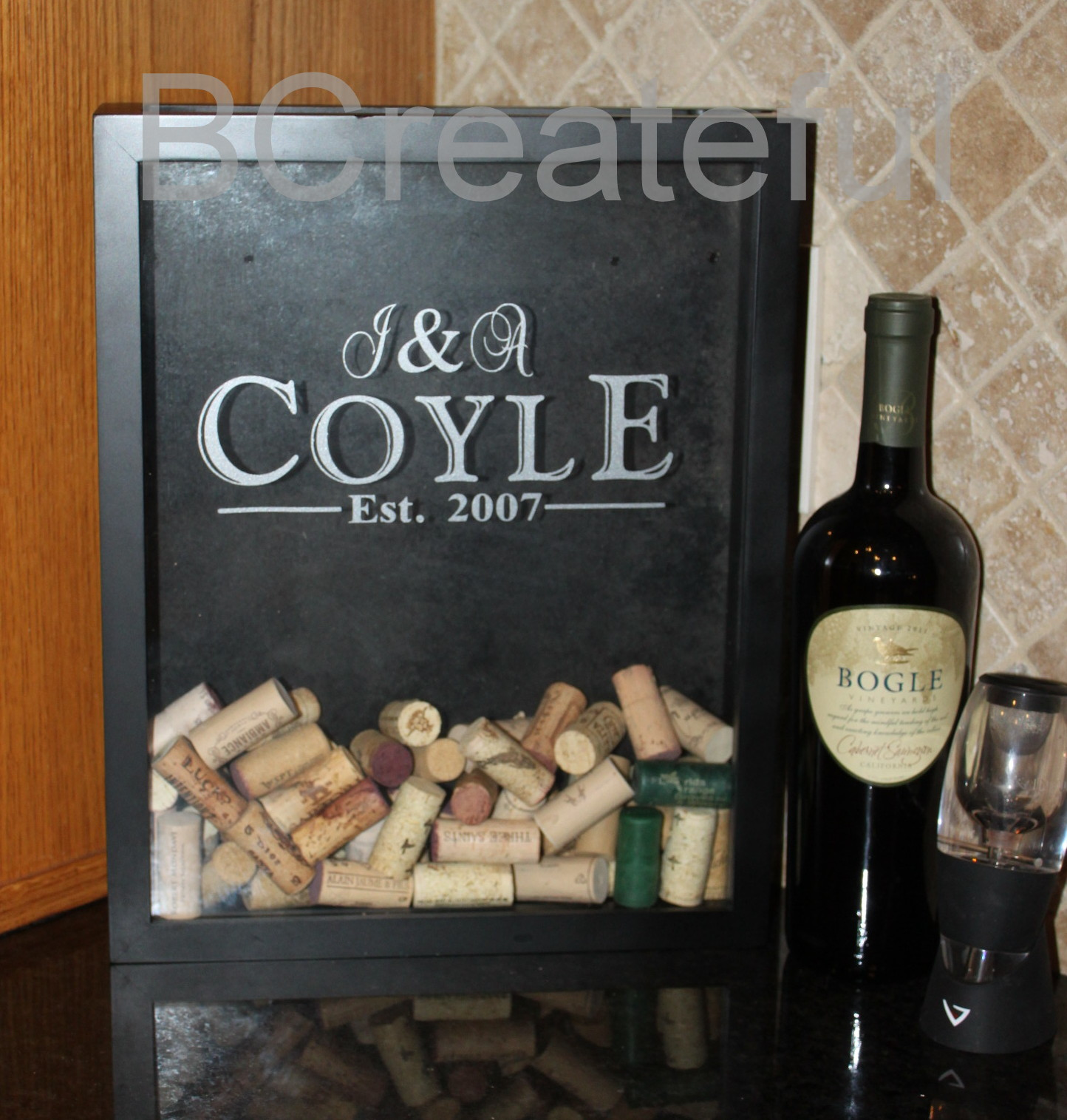 Wine Cork Or Bottle Cap Shadow Box On Storenvy