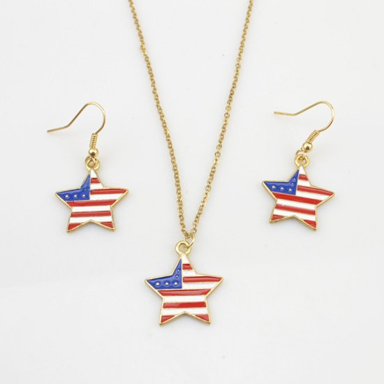 American flag jewelry set on storenvy american flag jewelry set aloadofball Choice Image