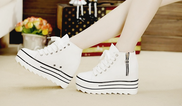 46599a9c812 Black   White Platform High Top Sneakers on Storenvy