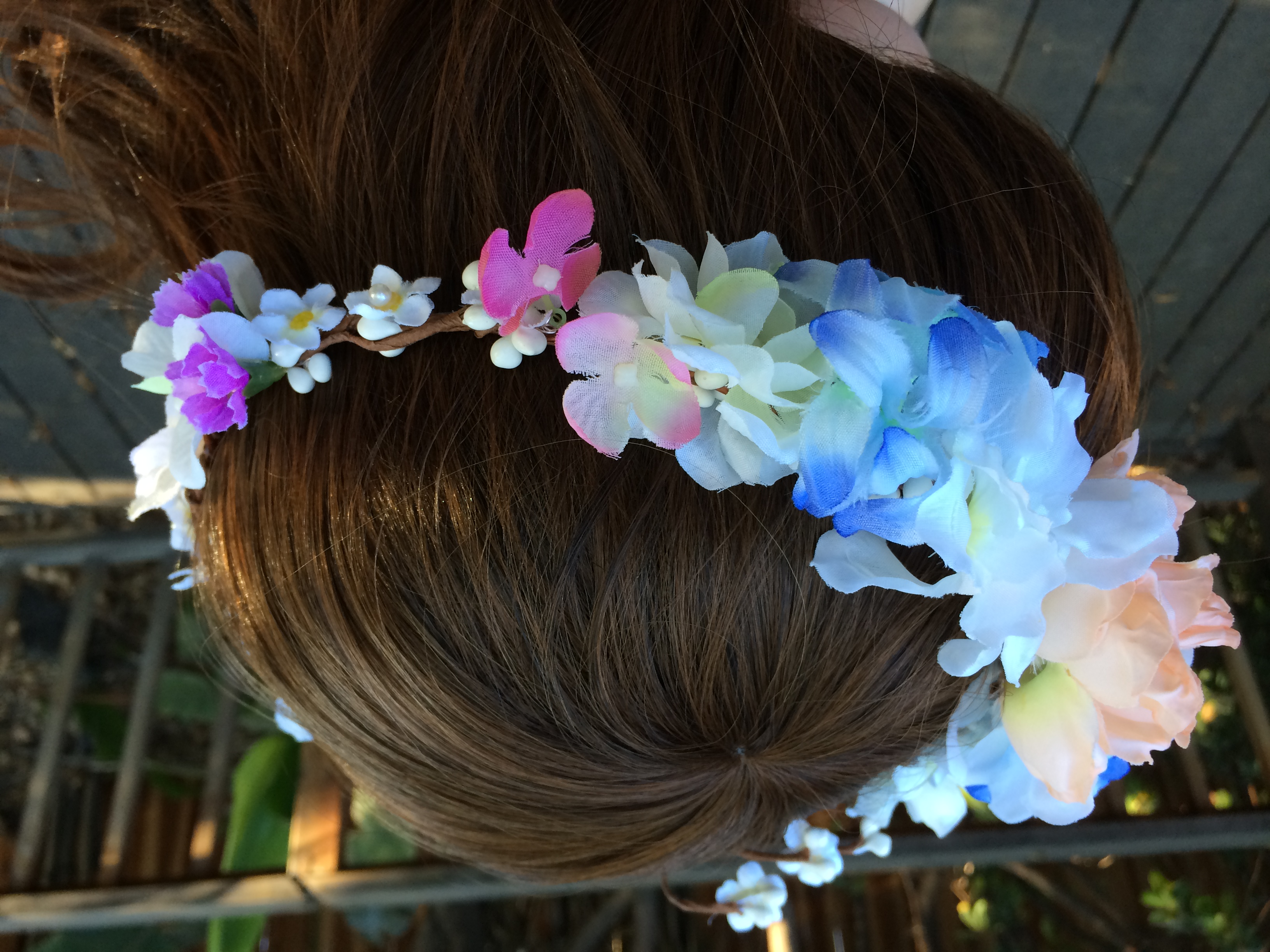 Whimsical Wedding Floral Crown Fairy Garden Flower Crown Headband