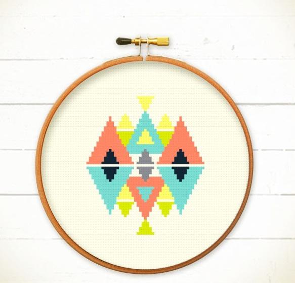 Modern Geometric Cross Stitch Pattern Pdf Play With