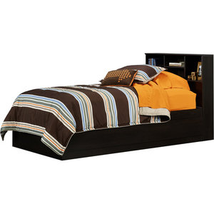 Mainstays Twin Storage Bed With Headboard Espresso On