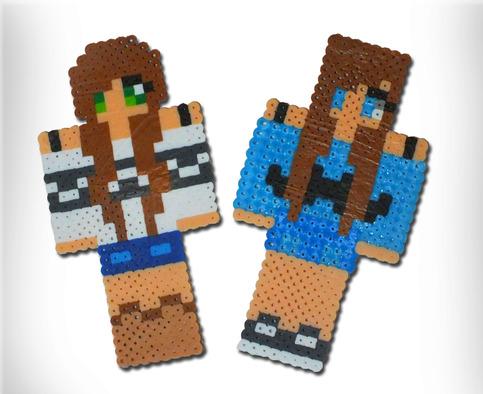 Custom Minecraft Inspired Skin Pearler Bead On Storenvy