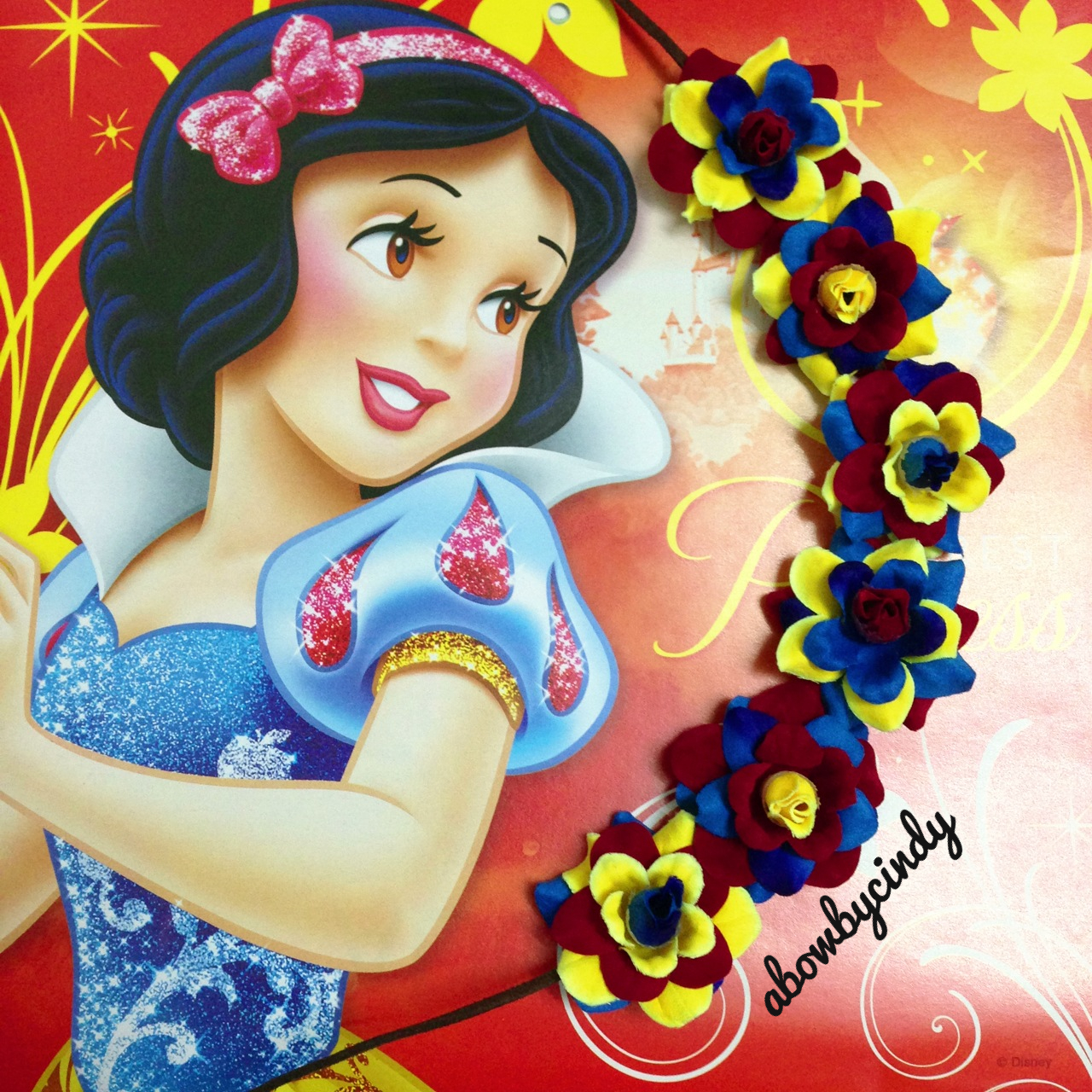 Snow White Flower Halo from A Bow By Cindy