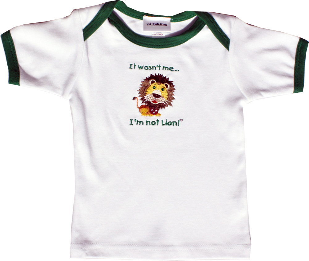 Lil Cub Hub Baby Short Sleeve T-Shirt Lion