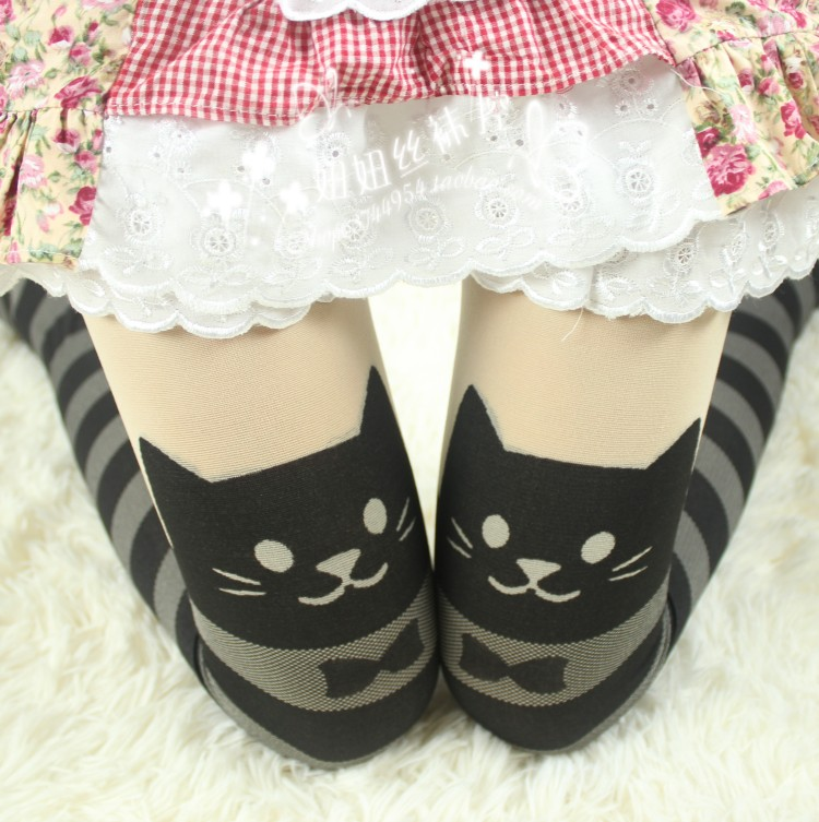 Cute cat cartoon pantyhose stockings leggings