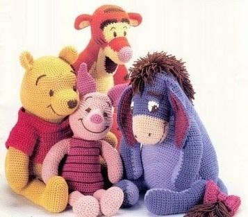 PDF_pattern_Book_crochet_4_dolls_pooh_piglet