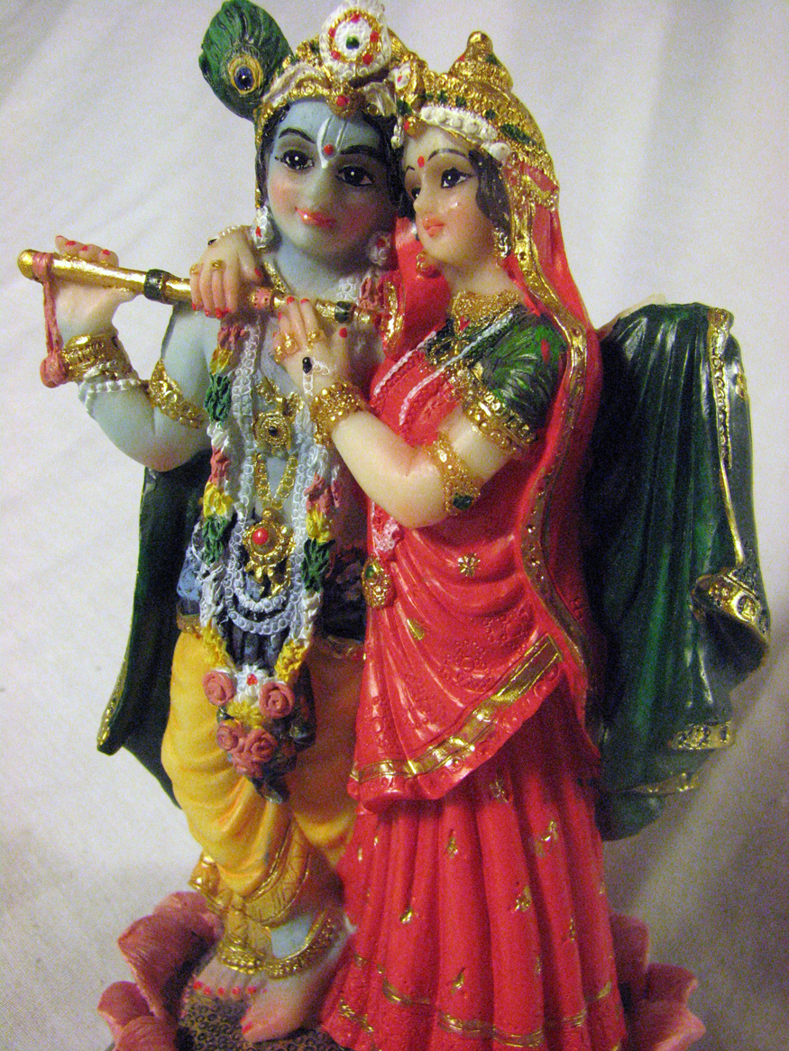KRISHNA Krsna & Sri RADHA Divine Lovers Flute STATUE ...