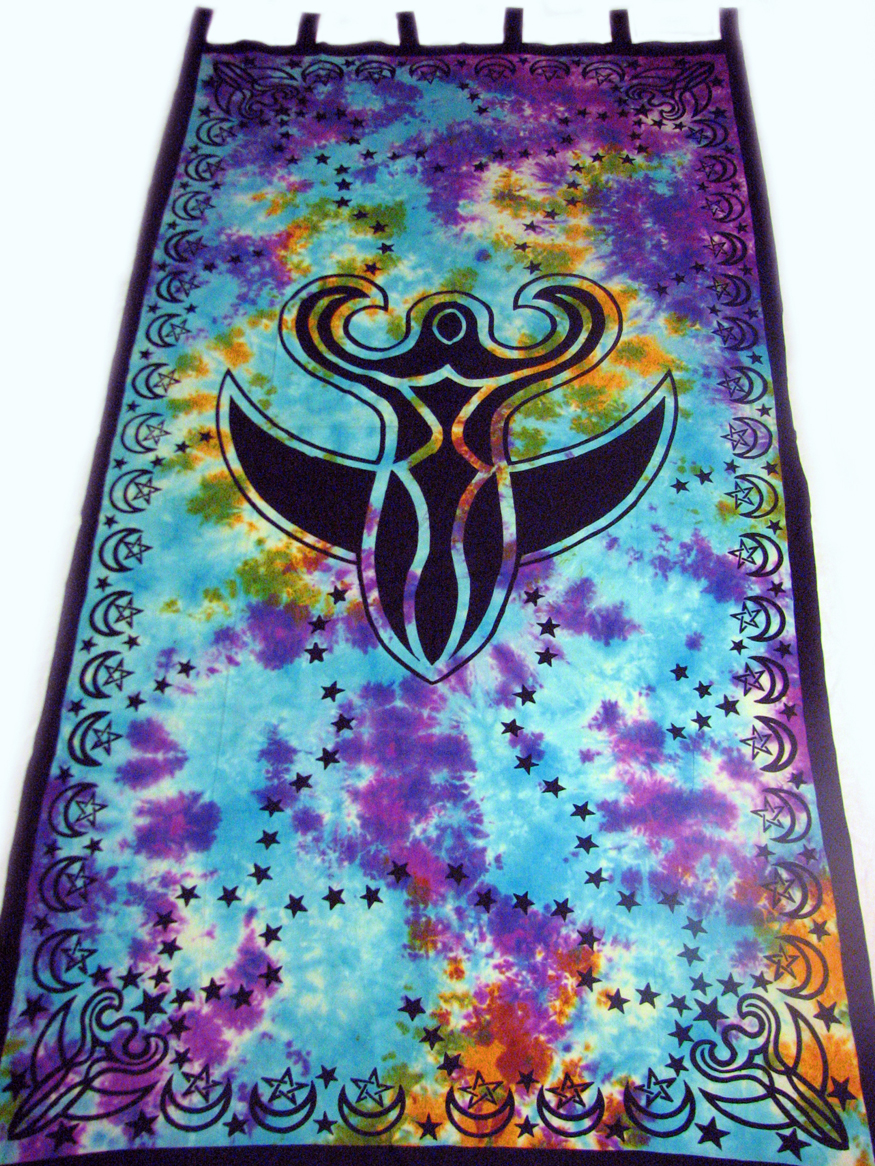 Fairy Goddess Celtic Tie Dye Hippie Pagan Wicca Tapestry
