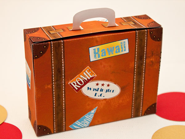 VINTAGE SUITCASE Favor Box - DIY Printable PDF File on ...
