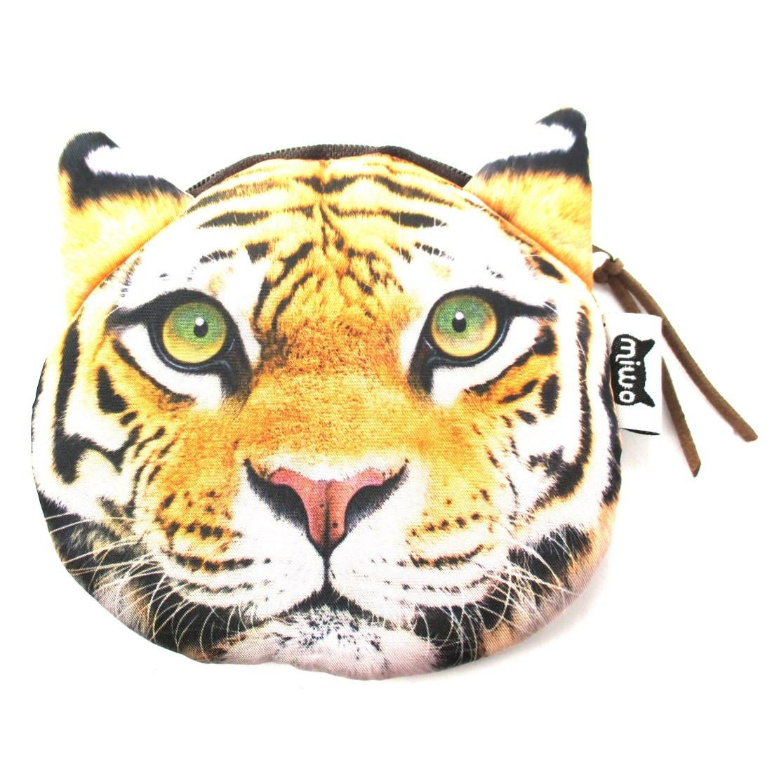 Realistic Tiger Face Shaped Soft Fabric Zipper Photo Print Coin Purse Make Up Bag (21734263) photo
