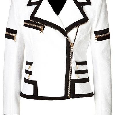 Women S Biker Leather Jacket White Women Jacket Women S Fashion