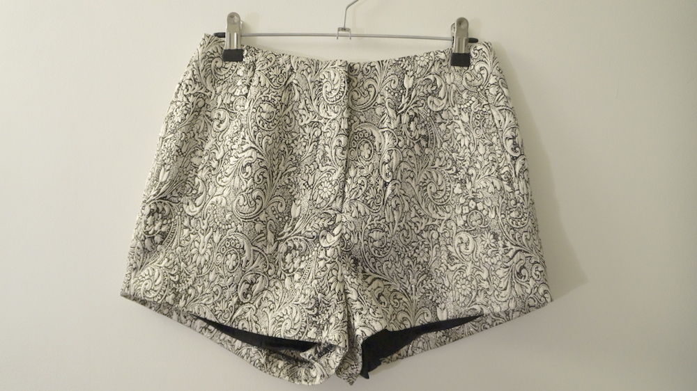 a9928cbeb2a Forever New Black and Gold Pattern Shorts · Marla's Vintage Garments ...