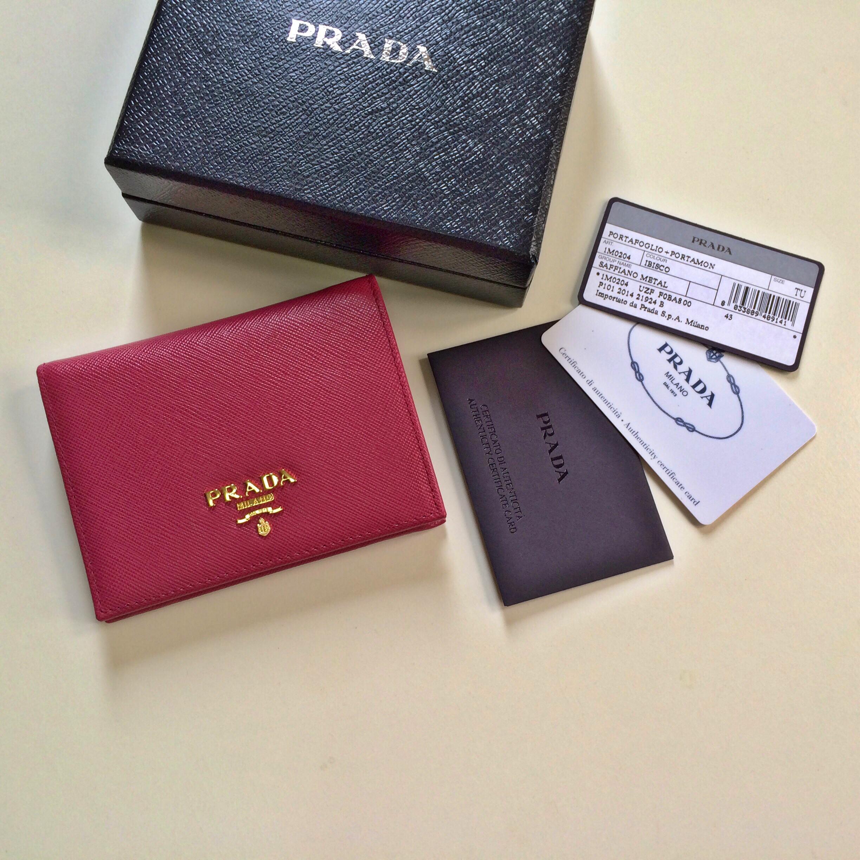 df18ff6d9e6c PRADA Saffiano Ibisco Bi-Fold Wallet on Storenvy
