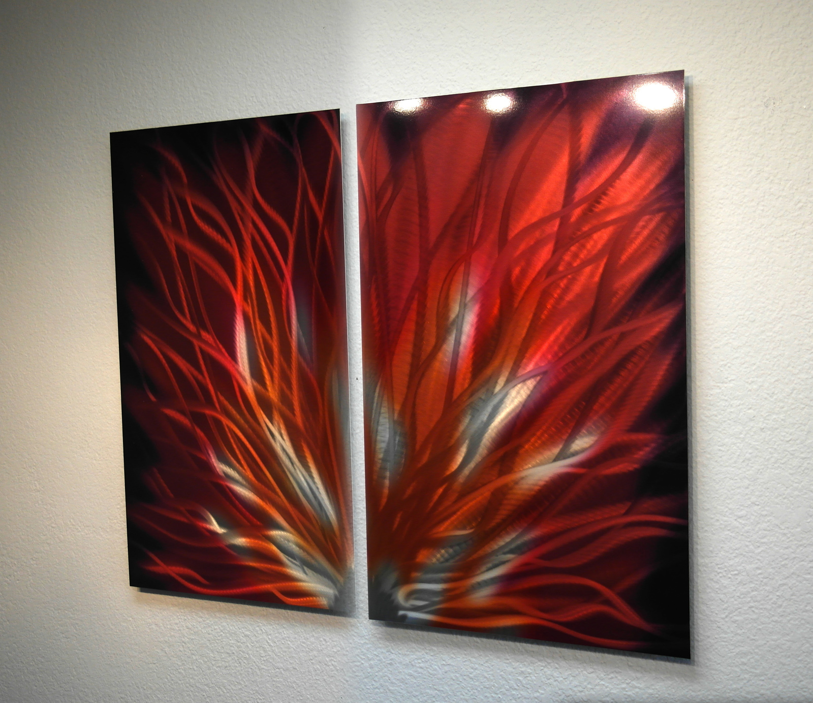 Fiamma- Abstract Metal Wall Art Contemporary Modern Decor ...