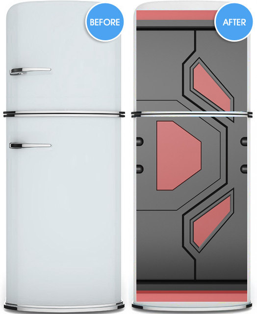 Door Sticker Futuristic Gate Hi Tech Star Mural Decole