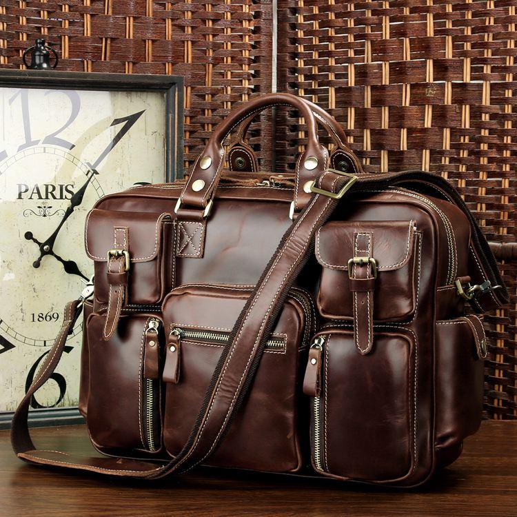 f00b199151 Large Handmade Superior Leather Travel Bag   Leather Messenger Bag    Overnight Bag   Duffle Bag