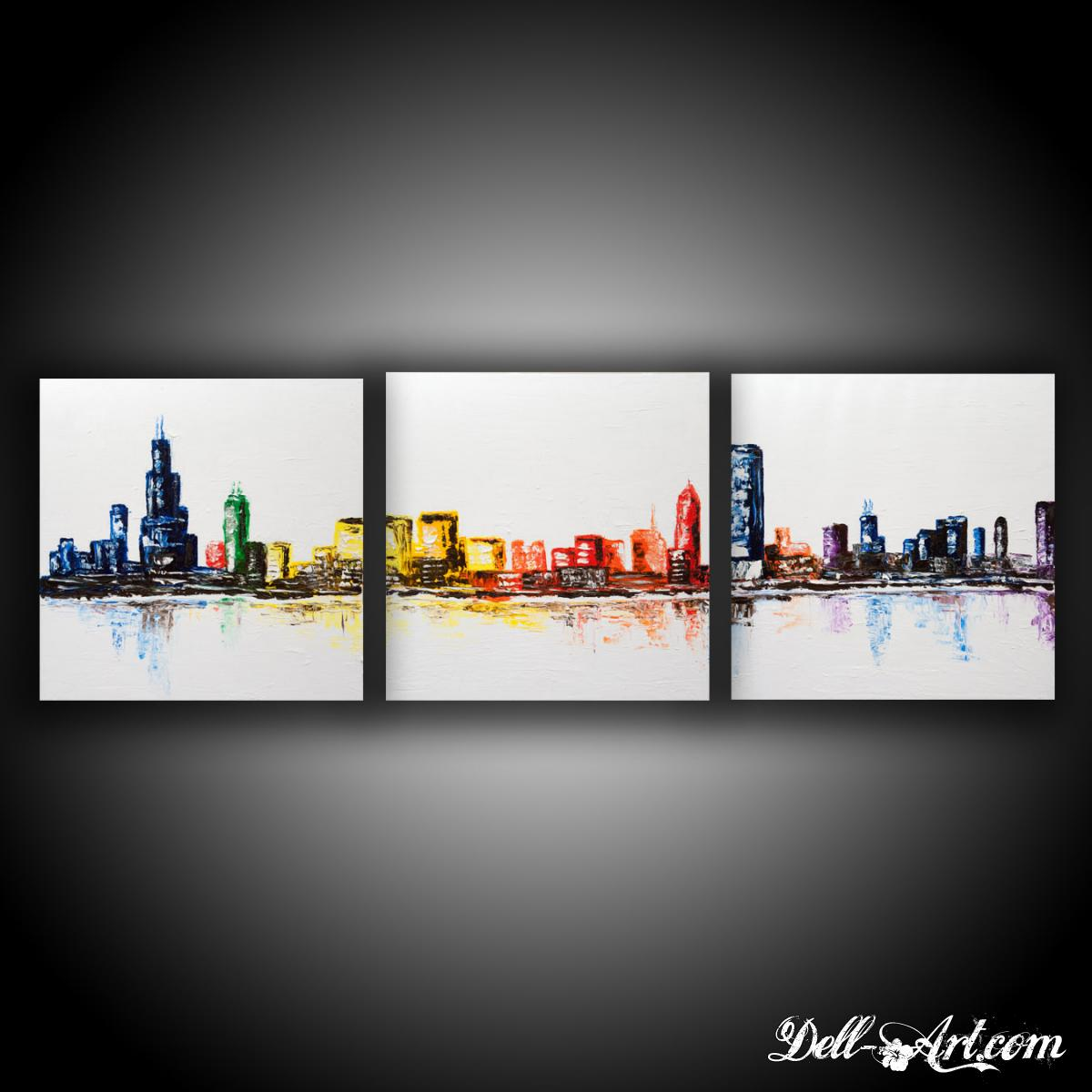 chicago three canvas skyline dell art online store powered by