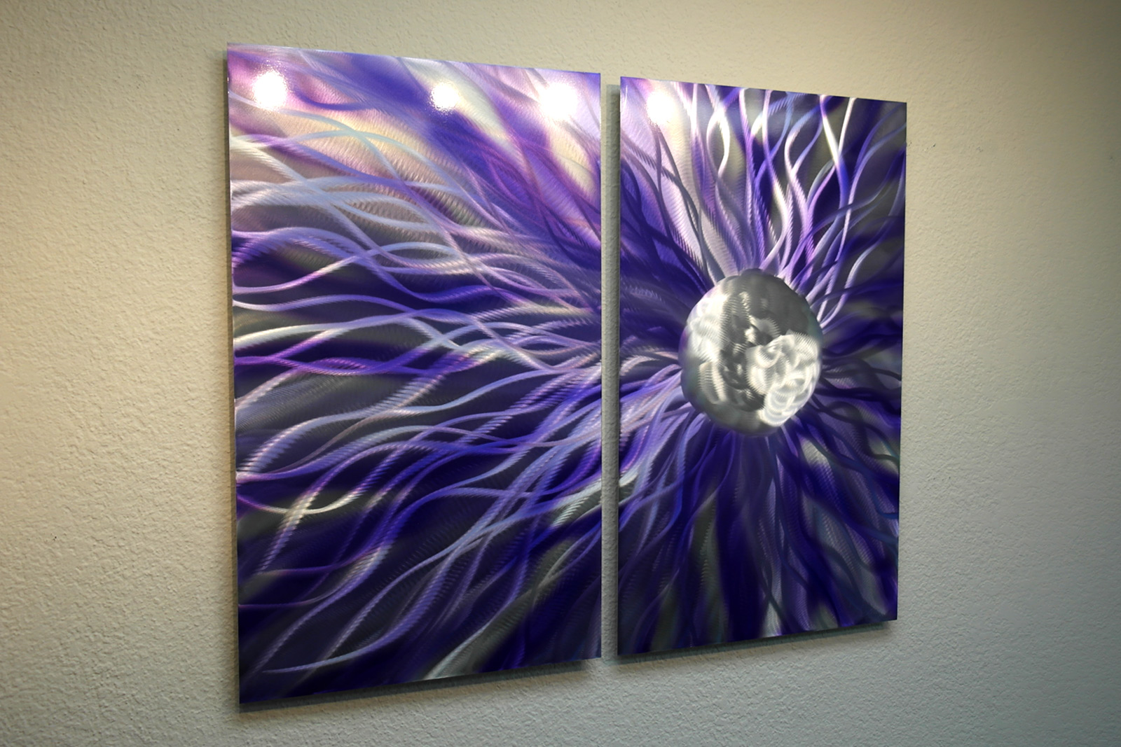 solare purple abstract metal wall art contemporary modern decor inspiring art gallery. Black Bedroom Furniture Sets. Home Design Ideas