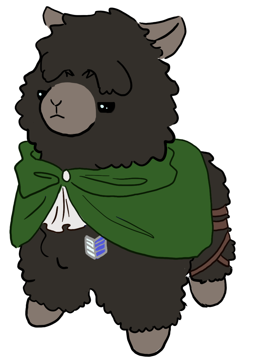 Levi alpaca sticker