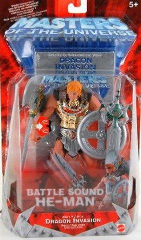 Motu 200x 2002 Battle Sound He-man Gold Armor Variant Classic Figure+video Vhs