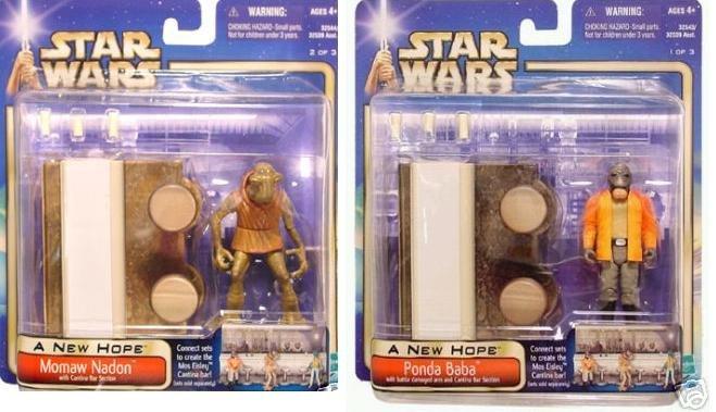 Star Wars Saga Anh Mos Eisley Cantina Bar Set Hasbro 2002 Walmart Exclusive Moc