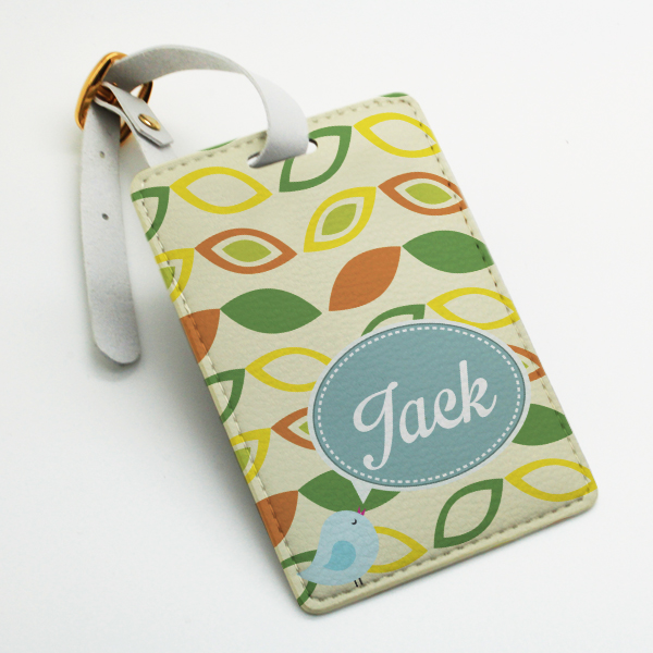 Custom made personalized pu leather Luggage Tag, wedding favor tag ...