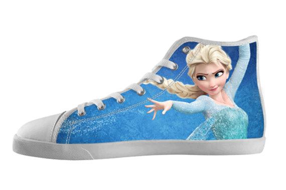 Frozen Elsa Custom Canvas High Top Shoes not Converse ...