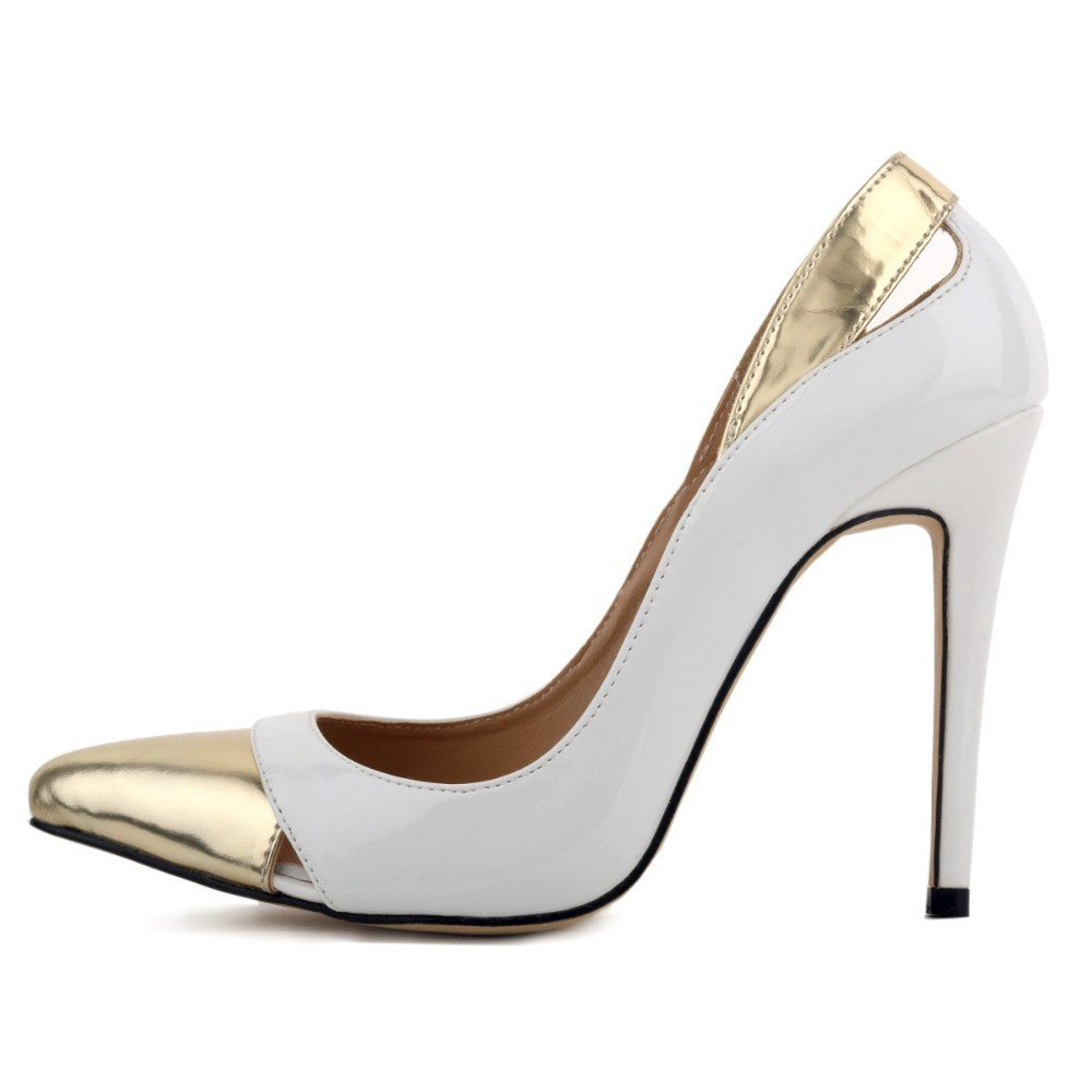 a55de2faf835 White HOT fall 2014 SEXY WOMEN candy color 11CM high heel cutout OL pump  lady pointed