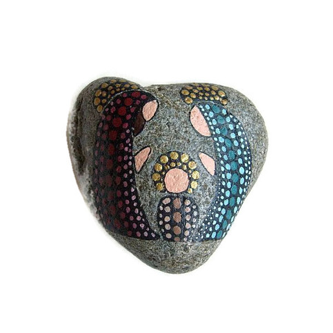 Hand Painted Rocks Reversible Dotted Nativity Painted