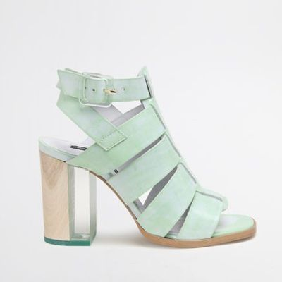 560615abcb1 Miista isabella summer leather sandal with lucite wood heel in mint green
